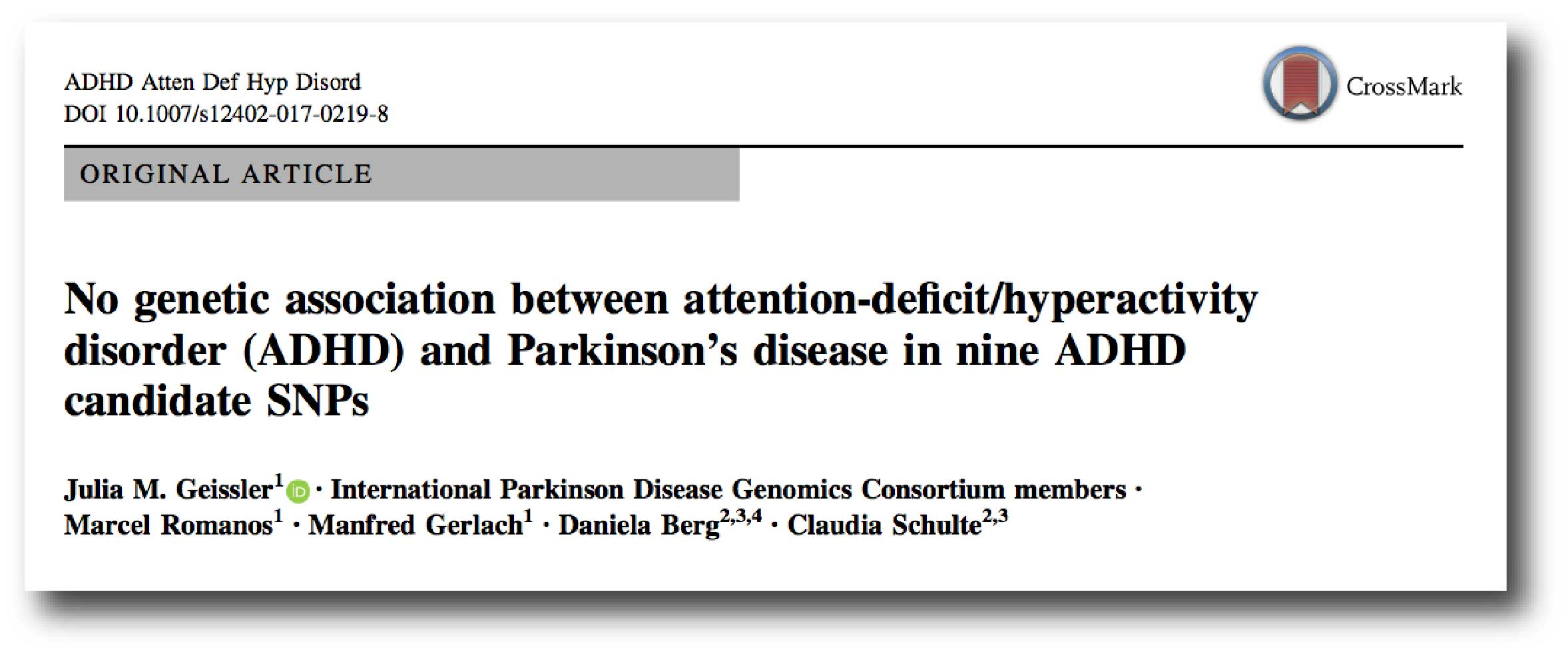 Non Prescription Use Of Ritalin Linked >> Adhd And Parkinson S Disease The Science Of Parkinson S