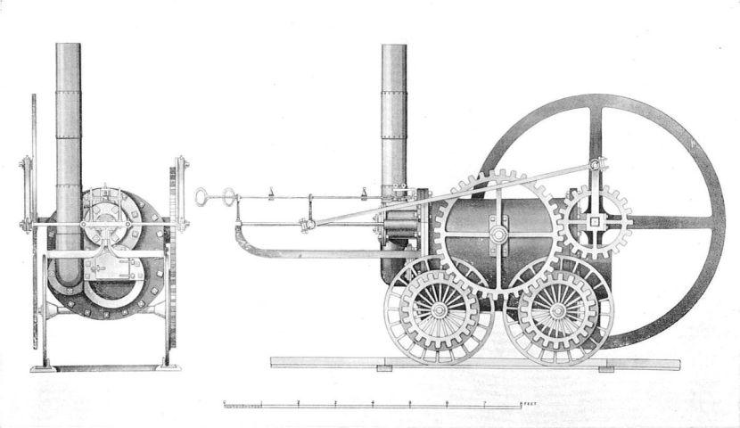 1200px-Trevithick's_Coalbrookdale_locomotive,_1803_(British_Railway_Locomotives_1803-1853)
