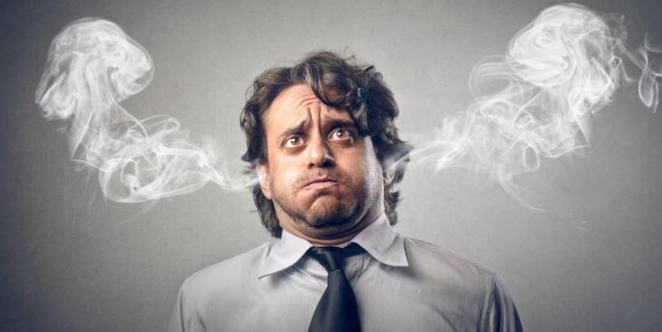 Image result for vintage art stressed man